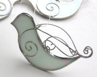 You Pick Any Color - 3D Stained Glass Peace Dove - Hanging Bird Suncatcher Christmas Ornament Home Garden Decor Yard Art (MADE TO ORDER)