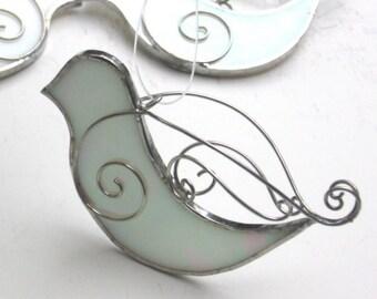 Vous choisissez n'importe quelle couleur - Colombe de la paix 3D vitrail - suspension oiseau Suncatcher Noël ornement Maison Jardin Decor Cour Art (fait à la commande)