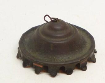 Antique Smoke Bell - Hanging Oil Lamp Smoke Bell - Brass Smoke Bell - Antique Lighting