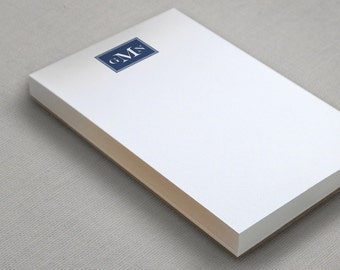 Masculine Monogram Personalized Notepad - To Do List - 100 sheets - Choose Your Ink  Color