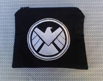 SHIELD Symbol Embroidered Zipper Pouch