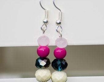 Pink Palette- Dangle Earrings