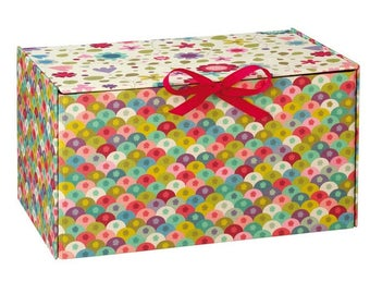 Mini Lab pattern storage box tart shells and flowers
