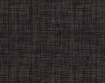 LINEA fabric cotton patchwork LINEA Brown charcoal x50cm