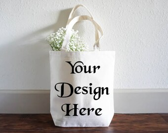 Shopping Bag Mock up - Bag photography - Tote Bag Styled Photography - Photo Mockup - Instant Download Mockup  - Bag and Flower Photo
