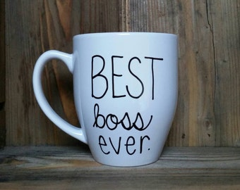 Best boss ever mug, gift for boss, mug for boss, boss mug, boss appreciation gift