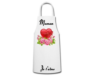 Personalized apron mother's day, Inscriptions to choose