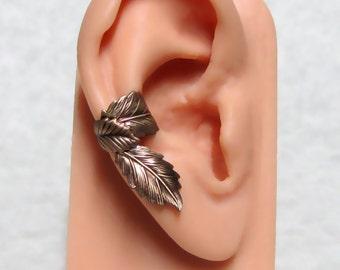 Filigree Leaf Forest Ear Cuff ' right ear '