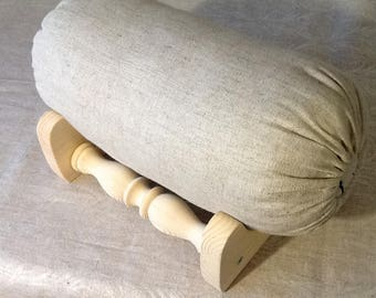 Stand Pillow Bobbin lace bolster Wooden table stand Eco material Tool to bobin lace making Natural wood
