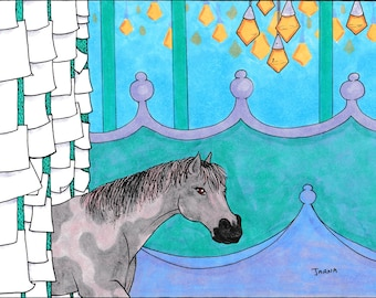 The Horse in the Hall - Original Marker Illustration