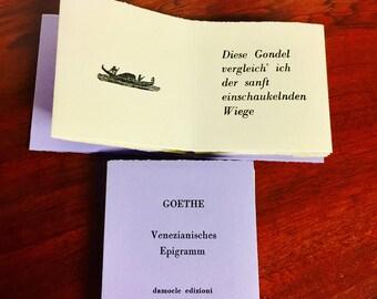 GOETHE Artist's Book Letterpress