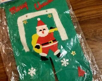 Vintage 1970s Christmas Stocking, Christmas Decor, Christmas Stocking Stuffers, Christmas Stocking Personalized