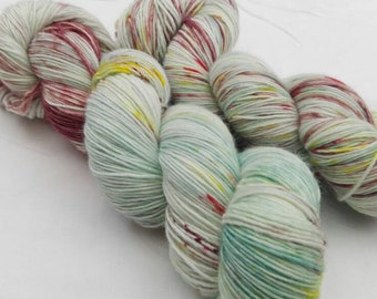 Hand dyed sock yarn sockweight singles merino
