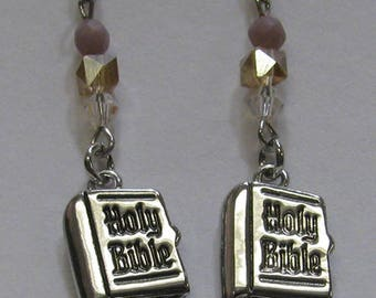 Holy Bible Earrings E65
