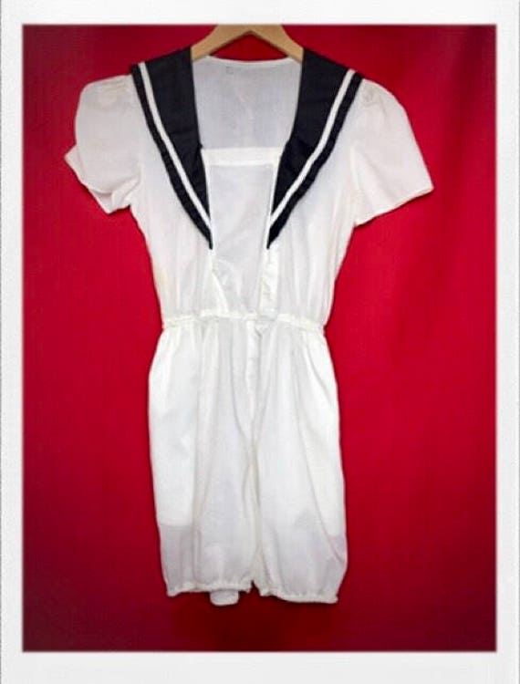Vintage Women's Nautical Play Romper
