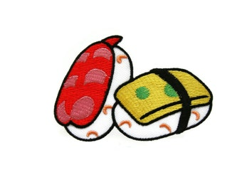 Sushi Patch - Sushi Iron on Patch - Sushi Embroidered Applique Iron on Patch