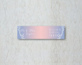 Serenity & Rose Quartz Straw/Cupcake Flag