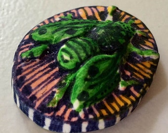 clay bee or house fly   OOAK     Handmade  cabochon     jewelry craft supplies  handmade