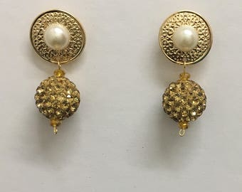 Gold Omega Collection Earrings