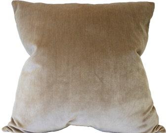 "Luxurious Silk Velvet Pillow Cover 20"" x 20"""
