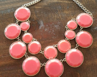 Vintage Multi-Strand Coral Beaded Necklace