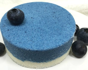 Blueberry Honey Bath Truffle - with Shea Oil and Cocoa Butter, decadent bath fizzie with moisturizing oils, lots of fragrance, vanilla honey