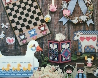 Country Plastic Canvas - Multiple Projects by Carol Wilson Mansfield for American School of Needlework #3047 MINT Condition 1986