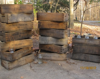 3 Cherry Lugs-Wood Orchard Crates-DIY Crate Side Table, Wedding decor,Home Decor,Table,Wood Shelf, Store Display,Storage
