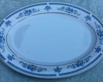 G platter blue floral