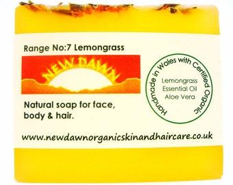 Lemongrass Organic Soap ~ Handmade Soap ~ Vegan Soap ~ Lemongrass Soap ~ Natural Skin Care for Face & Body