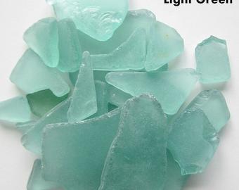 Sea Glass Bulk, Beach Decor, Nautical Wedding Decor Bulk Beach Glass Sea Glass, Sea Green Sea Glass, Bulk Seaglass, LT GREEN, 2 Lbs
