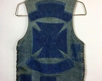 Authentic De-patched 70's Biker Vest