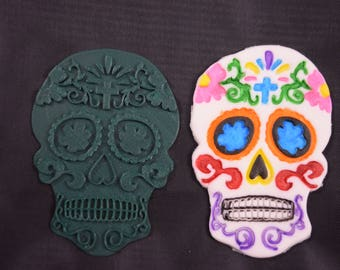 Day of The Dead Sugar Skull w/ Cross Cookie Cutter