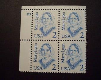 U.S. Stamp 1987 *Great American Issue*Mary Lyon* Education*Plate Block*Scott#2169*MNH