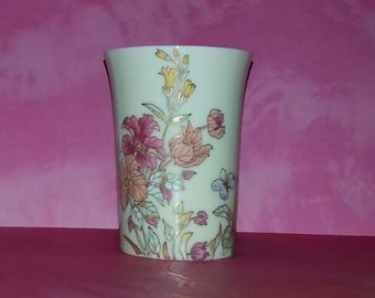 Vintage Shibata Floral Pattern Porcelain Vase made in Japan