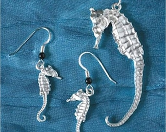 Seahorse Necklace & Earrings