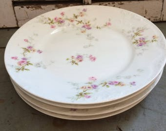 Set of 4 Vintage Theodore Haviland Limoges salad plates