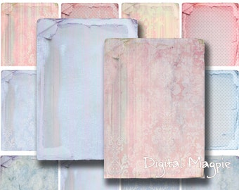 16 Shabby Chic Backgrounds Digital Collage Sheets to download