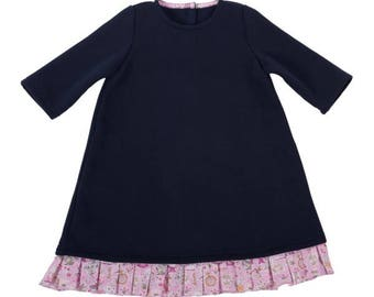Girl casual dress, Miss Pretty Navy Blue