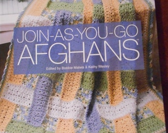 Join as you go Afghans - Book, 47 projects, like new