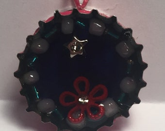 Summer Night Bottle Cap Pendant