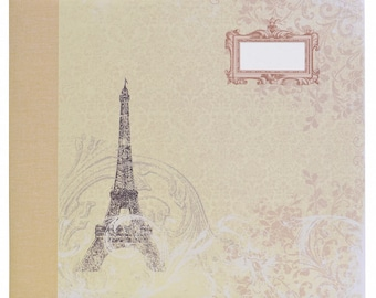 SCRAPBOOK COLLECTION PARIS SHABBY CHIC VINTAGE OLD REFILLABLE LEAVES PHOTO WEDDING PAPER ROSE