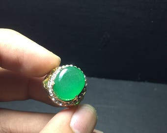 Natural Emerald Ring Zambia 29.5ct 101