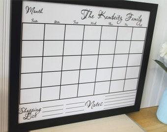 Dry erase Calendar Custom Wall Calendar perpetual calendar magnetic Family wall organizer custom colors