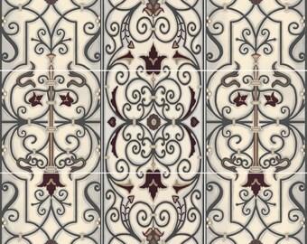 Verdigris Panel Decorative Tile Mural Ceramic Back Splash Artistic Kitchen Bath