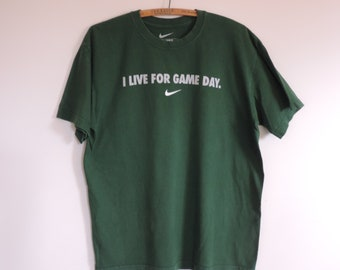 "Vintage T Shirt Nike ""I Live For Game Day""  Nike Sportswear Wear 100% Cotton Print T Shirt Nike Loose Fit M"