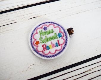 Handcrafted Homeschool Rocks Feltie Clip - Homeschool Mom - Homeschool Bow -1st Day of School-100 Days of School -Christmas Stocking Stuffer