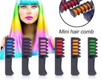 Temporary Hair Chalk Mini Comb 6pc Set   M13