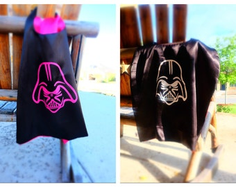 PINK Darth Vader cape - Star Wars birthday party favors, Star Wars party, girl costume, kid cosplay, superhero capes