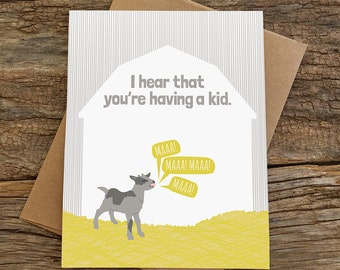 funny baby shower card / pregnancy card / kid